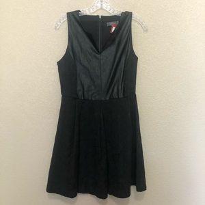 UMGEE Black Vegan Leather Lace Mini Dress